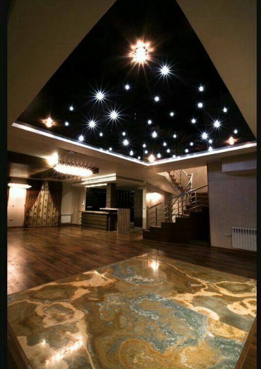سقف کشسان  لاکر نور  پردازی کریستالی